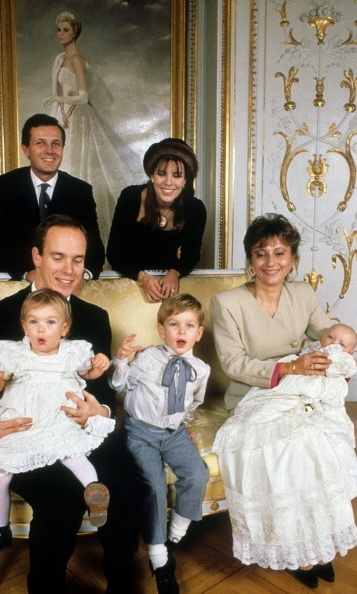 Cheeky Princess Charlotte makes a face during a 1987 photo session at the palace.