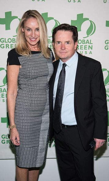 "November 18: The future is in food! Michael J. Fox and his wife Tracy Pollan celebrated at The Global Green Benefit's ""The Future of Food' event in New York City. 