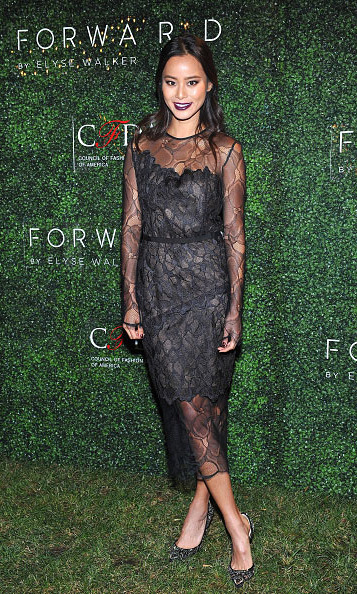 November 17: Jamie Chung aka Mrs. Greenberg looked fabulous during the FORWARD by Elyse Walker CFDA 2015 Rising Talent Launch in Los Angeles. 