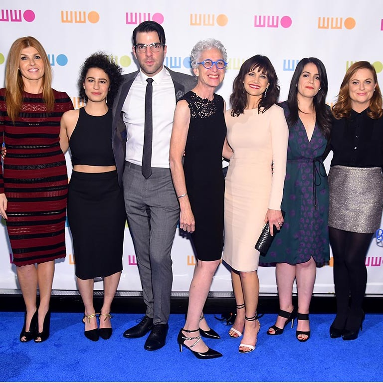November 16: A room full of stars! Connie Britton, Ilana Glazer, Zachary Quinto, Worldwide Orphans CEO Dr. Jane Aronson, Carla Gugino, Abbi Jacobson and Amy Poehler attended the 11th annual Worldwide Orphans gala in New York City. 