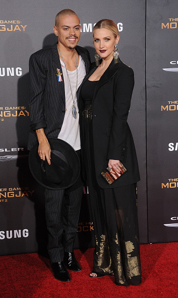 November 16: Happily ever after! Ashlee Simpson and Evan Ross looked in love during the premiere of 'The Hunger Games: Mockingjay - Part 2' in Los Angeles. 
