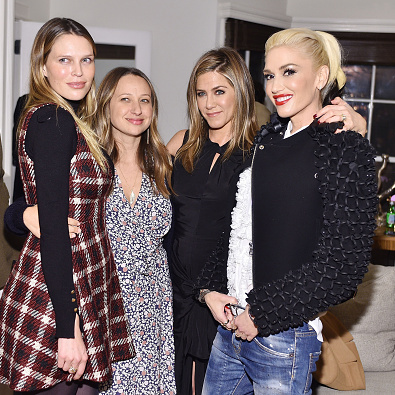 November 18: Sara Foster, Jennifer Aniston and Gwen Stefani (who brought new beau Blake Shelton) all supported Jennifer Meyer at her exclusive jewelry collection launch with Barneys New York in L.A.