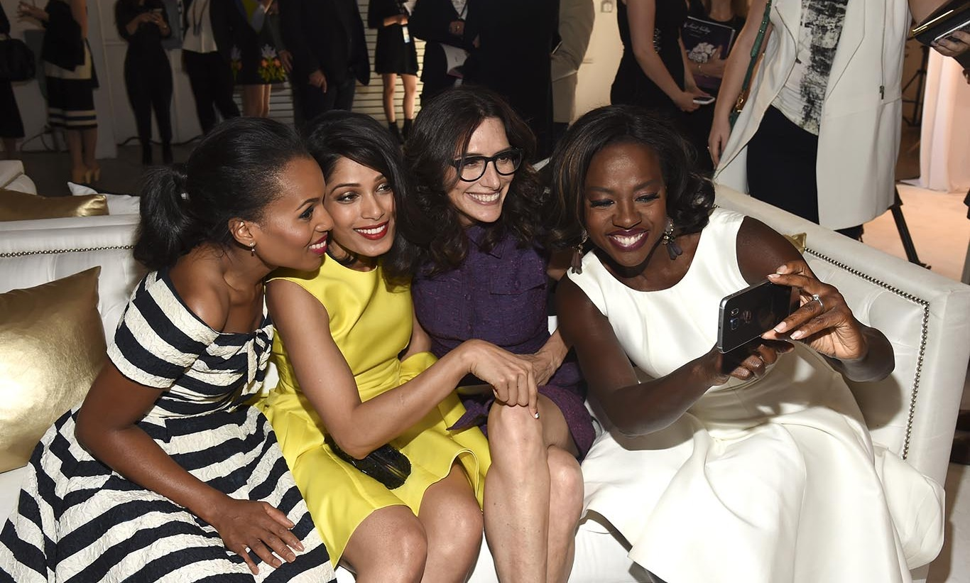 November 19: Ladies night! Kerry Washington, Freida Pinto, Elizabeth Stewart and Viola Davis posed for a quick selfie during the first annual Variety & WWD StyleMakers luncheon presented by Smashbox Cosmetics in Culver City, California. 