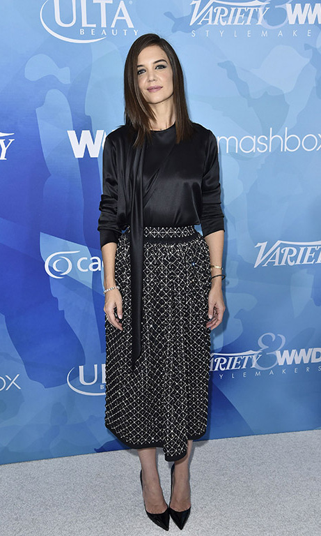 November 19: Looking good! Katie Holmes looked sophisticated during the first annual Variety & WWD StyleMakers luncheon presented by Smashbox Cosmetics in Culver City, California.