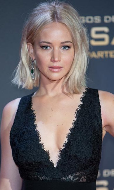 To achieve a Brigitte Bardot look, go for a winged eyeliner and white pencil on the inside rim of your lower lid like Jennifer Lawrence.
