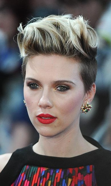 For a sultry finish like Scarlett Johansson's, slightly smudge pencil eyeliner around the bottom of your lashes and add gold powder to the inner corner of your eyes.