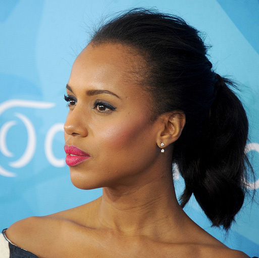If you want your look to be relaxed, but glamorous, try Kerry Washington's teased ponytail with fuller volume. 