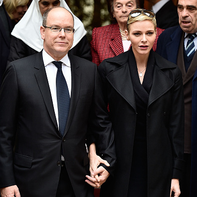 Prince Albert and Princess Charlene of Monaco held hands during a visit to the principality's Red Cross headquarters.
