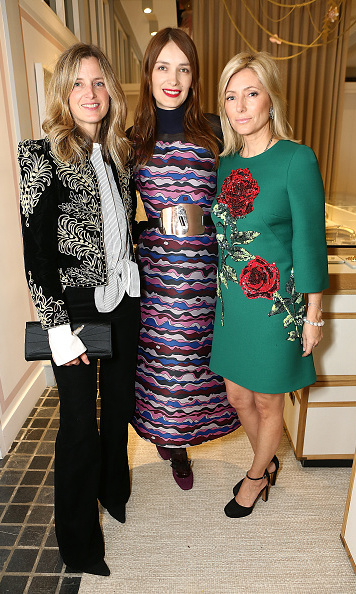 Ready for the holidays: Crown Princess Marie-Chantal of Greece, right, with fashion writer Amanda Brooks and designer Roksanda Ilincic, celebrated at the Moda Operandi Holiday dinner hosted by Lauren Santo Domingo.