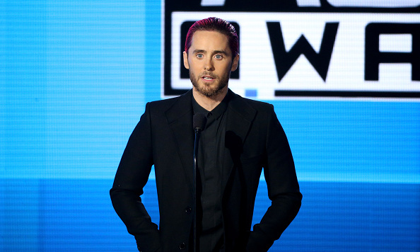 "Jared Leto paid a moving tribute to the victims of the Paris attacks, before introducing Celine Dion. The Oscar winning actor told audience members, ""The entire world matters and peace is possible.""
