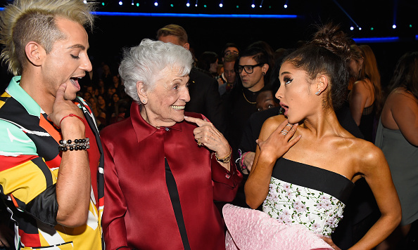 Ariana Grande had a hot date Sunday night — her grandmother, also known as Nonna Grande. The singer's brother, Frankie Grande, was also in attendance.