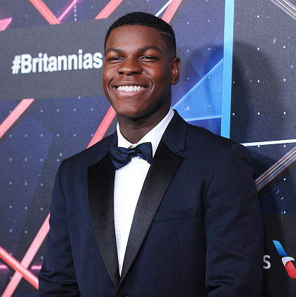 British actor John Boyega portrays AWOL stormtrooper Finn in the upcoming movie. As seen in a trailer for the film, the 23-year-old fights alongside Han Solo (Harrison Ford). John's character forms a special bond with actress Daisy Ridley's character Rey. John is probably best known for his role in the film 'Attack the Block.' 