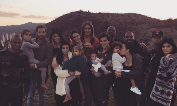 "The Kardashian-Jenner family sure know how to do a big family Thanksgiving! Kim Kardashian said she was so ""THANKFUL"" for all of them as they celebrated at sister Khloe's.