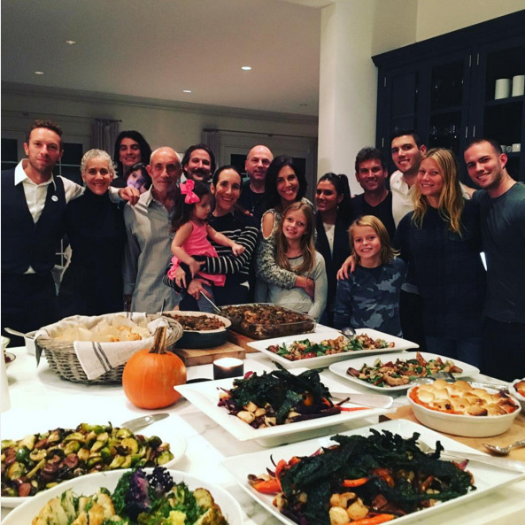 "Thanksgiving is all about family time for Gwyneth Paltrow and Chris Martin, who spent the holiday together with their kids. ""Happy Thanksgiving from us to you!"" wrote Gwyneth.