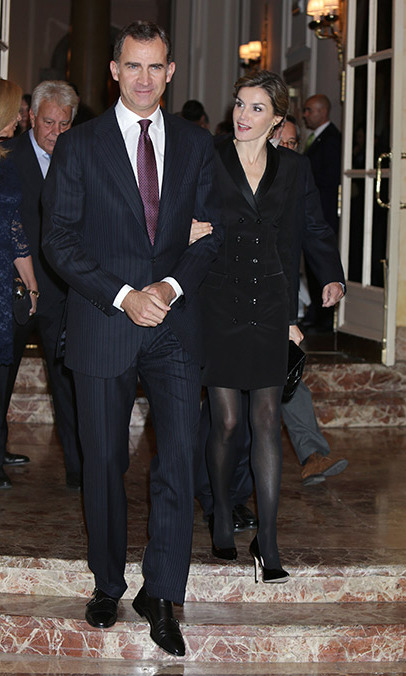 King Felipe of Spain and Queen Letizia attended journalist awards in Madrid.<br>Photo: Gtres