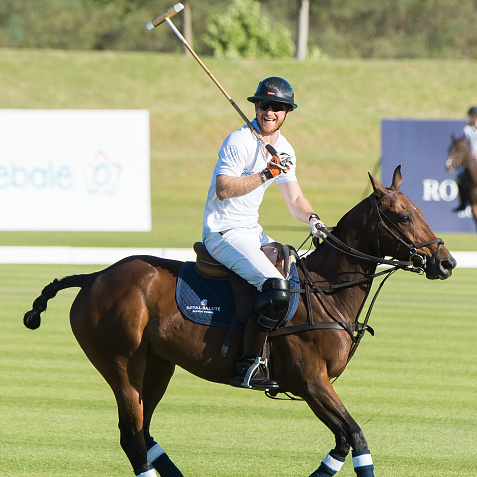 The 31-year-old prince was all smiles as he joined polo star Nacho Figueras during the outing.