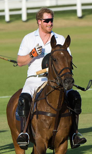 During the polo match, Harry didn't let falling off his horse twice stop him from continuing to participate. He kept a smile on his face and had some fun.