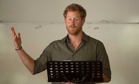 Prince Harry delivered a speech while visiting the Southern African Wildlife College near Kruger National Park during his visit to Kempiana, South Africa.