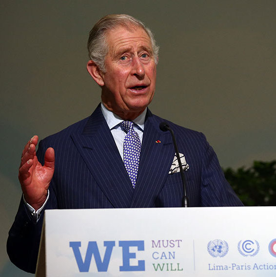 Prince Charles took a stand against climate change and delivered the opening address at the Lima Paris Action Agenda on forests at the United Nations Climate Summit in Paris, France. <br>Photo: Getty Images