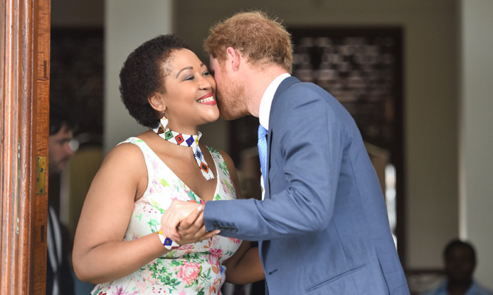 Receiving a warm welcome, the Prince met with Mrs. Tobeka Madiba Zuma, the wife of the South African president Jacob Zuma, on the sixth day of his royal tour.