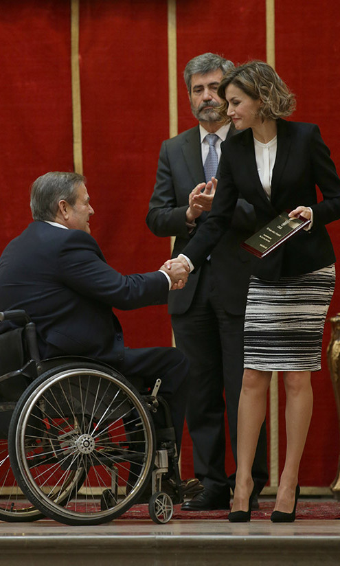 Spanish Queen Letizia made yet another stylish appearance at the 'Foro Justicia y Discapacidad' for people with disabilities in Madrid.<br>Photo: Gtres