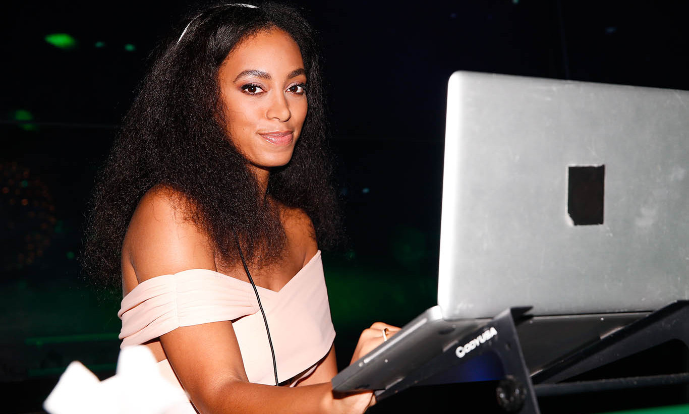 December 3: Play that music! Solange Knowles rocked the house at the 'From Earth to Heart' party sponsored by Dom Pérignon, Alex Dellal, Stavros Niarchos and Vito Schnabel at WALL in Miami.