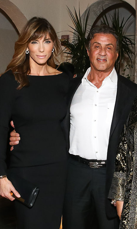 December 2: Sylvester Stallone and Jennifer Flavin were arm in arm at the private Art Basel kick-off dinner presented by Galerie Gmurzynska at The Villa Casa Casuarina in Miami. 