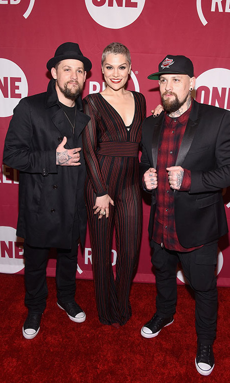December 2: Jessie J hung out with Benji and Joel Madden at the One Red 'It Always Seems Impossible Until It's Done' event at Carnegie Hall in New York City.