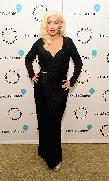 December 3: LBD! Christina Aguilera looked fierce during the Sinatra Voice for A Century Event in NYC.
