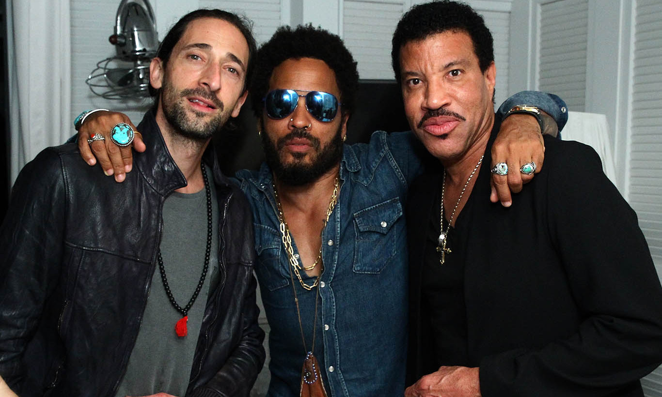 December 1: Adrien Brody, Lenny Kravitz and Lionel Richie attended DuJour Magazine Art Basel kick off party presented by Blackberry PRIV & 50 Bleu at Delano Beach Club in Miami.