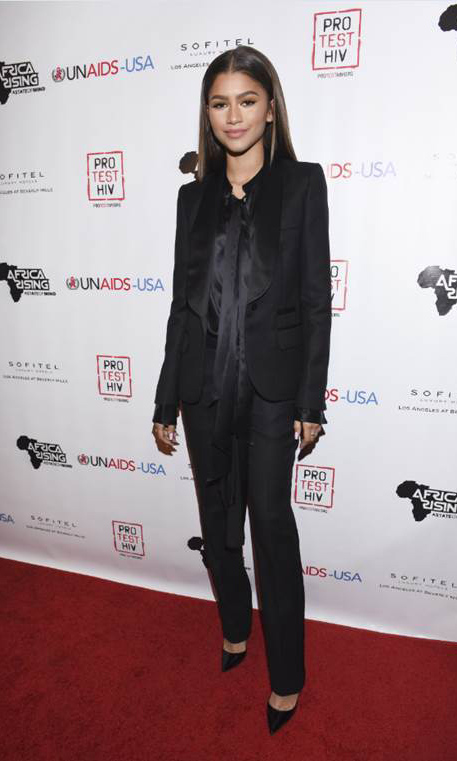 December 1: Zendaya worked a sleek all-black ensemble as she geared up to host the UNAIDS-USA and Africa Rising: Inaugural World AIDS Day Benefit at Sofitel Los Angeles in Beverly Hills.