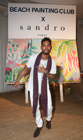 December 5: Miguel wore his winter white to perform at the Sandro Sunset BBQ during Art Basel in Miami.