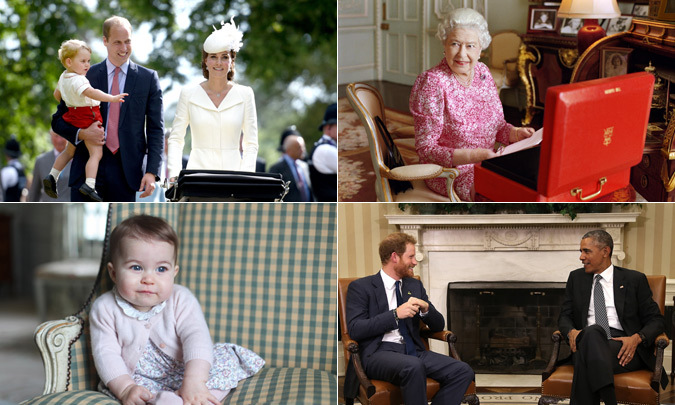 With the birth of Princess Charlotte and Queen Elizabeth making history as the longest-reigning monarch, this year has certainly been one to remember for the British royals.
