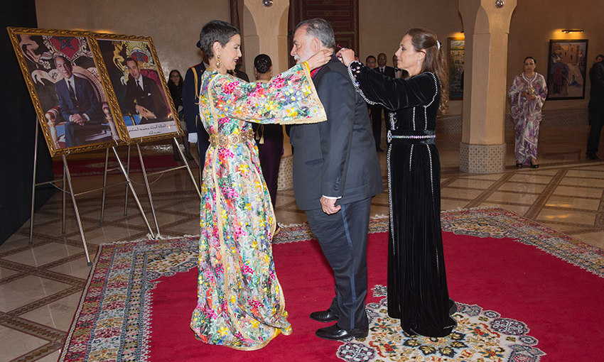 Hollywood heads to Marrakech: Morocco's Princess Lalla Meryem, left, awarded a royal medal to film director Francis Ford Coppola during the 15th Marrakech International Film Festival.