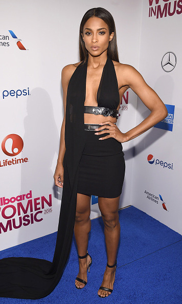 December 11: Work it out! Ciara looked fabulous after a long week of late night gym sessions during the the Billboard Women in Music luncheon.