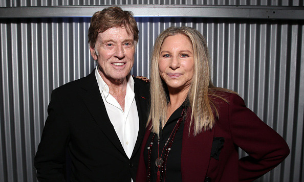 December 9: Back together! Robert Redford posed with honoree and good friend Barbra Streisand at The Hollywood Reporter's 24th annual Women in Entertainment breakfast in L.A.  