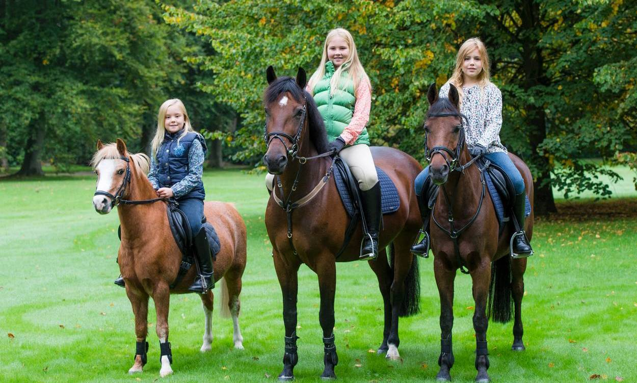 Princess Catharina-Amalia, future Queen of the Netherlands, is almost ready to gallop into her teen years! As she turned 12 on December 7, the Royal Palace released a photo of the birthday girl on horseback with her two little sisters, Princesses Ariane, 8, and Alexia, 10, to commemorate her special day.