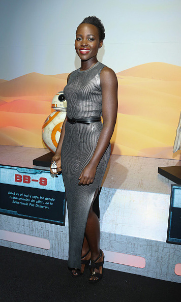 December 8: Looking lovely: Lupita Nyong'o shined at the 'Star Wars: The Force Awakens' premiere in Mexico City. 