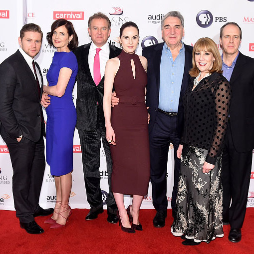 December 7: This is the end! The cast of 'Downton Abbey,' Allen Leech, Elizabeth McGovern, Hugh Bonneville, Michelle Dockery, Jim Carter, Phyllis Logan and Kevin Doyle attended the show's sixth and final season premiere in New York City. 