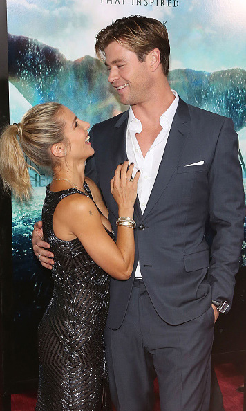 December 7: Lucky in love!  Elsa Pataky and Chris Hemsworth were the perfect pair during the 'Heart of the Sea' premiere in New York City. 
