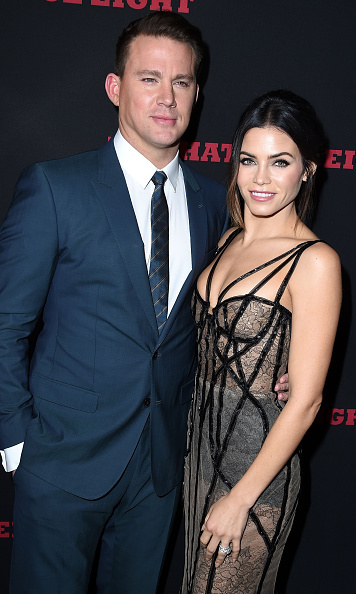 December 7: Jenna Dewan Tatum wore Marchesa as she stood arm-in-arm with her husband Channing Tatum at the premiere of his new film 'The Hateful Eight' in Hollywood. 