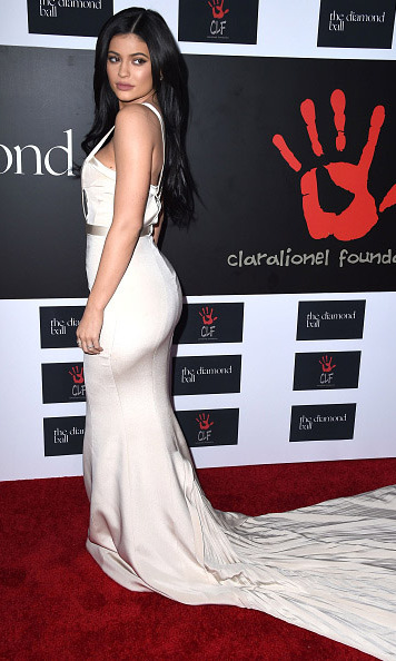 December 10: Kylie Jenner showed off her elegant gown during the Rihanna and the Clara Lionel Foundation's  second Diamond Ball sponsored by D'usse and Armand de Brignac in Santa Monica. 
