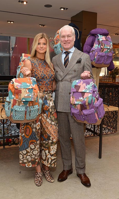 December 11: 'Project Runway' host Tim Gunn joined 'Project Runway Junior' Let Girls Learn challenge winner, Peytie at the Lands' End holiday pop up shop in New York City.