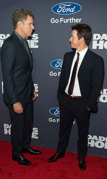 December 13: Stare contest! Stars of Daddy's Home, Will Ferrell and Mark Wahlberg, met up in NYC for the film's premiere.