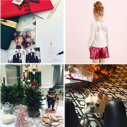 "For Princess Marie-Chantal of Greece it was ""beginning to feel a lot like Christmas... #christmas #cantwaitforchristmas "" as she wrote Christmas cards, wrapped presents and posted cute clothes from her signature line.