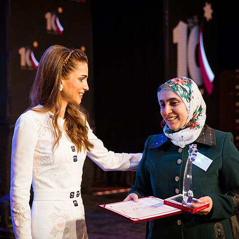 Queen Rania attended the 10th Teacher Award held by the Queen Rania Award for Excellence in Education (QRAEE) in Amman, Jordan.