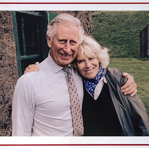 Prince William's father Prince Charles also handed out his annual Christmas greeting featuring a cuddly shot of himself and wife Camilla.