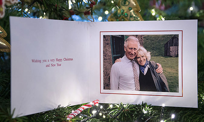 The interior of the card gave a simple 'Happy Christmas' message.
