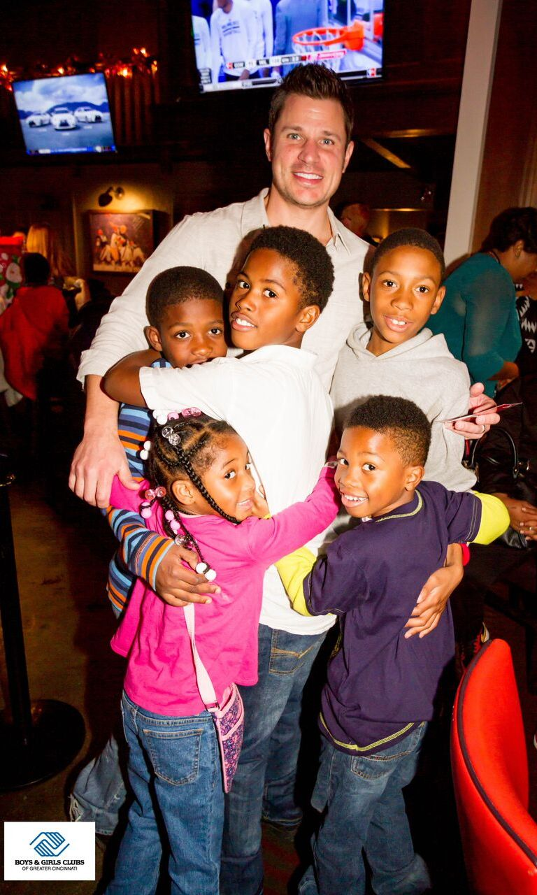 December 14: Nick Lachey knows what the season is all about. The TV personality held a big gift drive at his restaurant Lachey's for families in need, for the Boys & Girls Clubs of Greater Cincinnati.