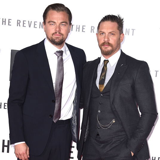 December 16: Scruff squared. Leonardo DiCaprio and Tom Hardy made a dashing pair at the premiere of their new film 'The Revenant' at TCL Chinese Theatre in Hollywood.